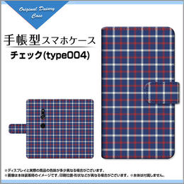 XPERIA XZ2シリーズ チェック(type004) 手帳型 スライドタイプ 内側ホワイト/ブラウン(品番cxpbook-021)
