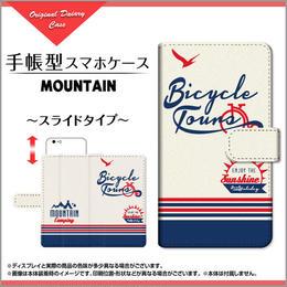 iPhoneシリーズ MOUNTAIN 手帳型 スライドタイプ 内側ホワイト/ブラウン(品番cibook-008)