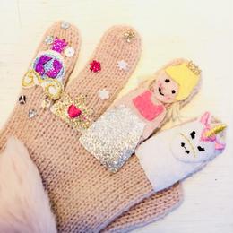 キッズ手袋 プリンセスピンク