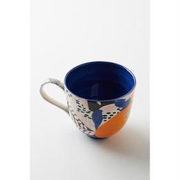 Leaf mug blue