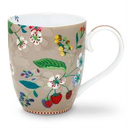 Floral Mug L  khaki