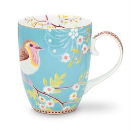 Floral Mug  Early Bird Blue