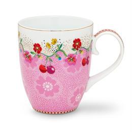 Floral Mug  Cherry Pink