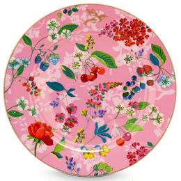 Floral under plate Pink