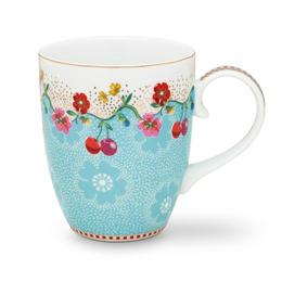 Floral Mug Cherry Blue