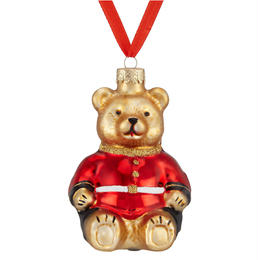 Glass Guardsman Bear Bauble