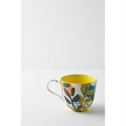 Leaf mug yellow
