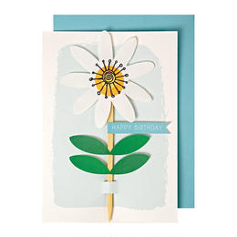 Embroidered Birthday Flower Card
