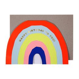 Neon Rainbow Birthday Card