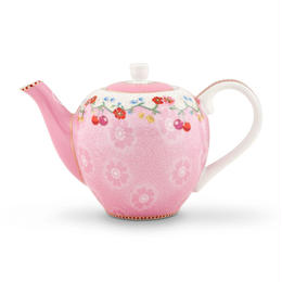 Floral Teapot Cherry Pink