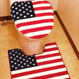 トイレカバー&マットセット  USA アメリカン