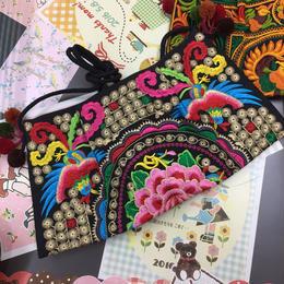モン族 刺繍バッグ ポシェット