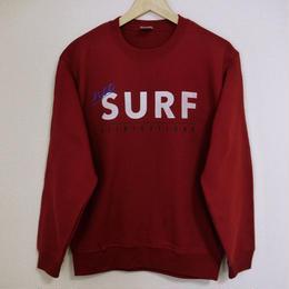 """""""net"""" SURF allnightlong スウェット(バーガンディ)"""