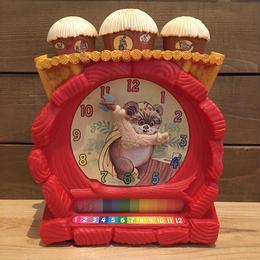 STAR WARS Wicket The Ewok Teaching Clock/スターウォーズ ウィケット・ジ・イウォーク ティーチングクロック/180729-2
