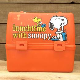 PEANUTS Snoopy Plastic Lunchbox/ピーナッツ スヌーピー プラスチック ランチボックス/170609-1