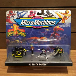 POWER RANGERS Micro Machines Black Ranger Figure Set/パワーレンジャー マイクロマシン ブラックレンジャー フィギュアセット/180320-8