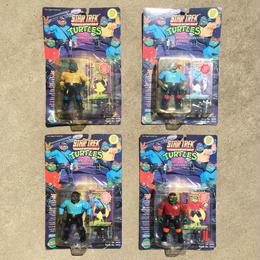 TURTLES Star Trek Turtles 4Pcs Figure Set/タートルズ スタートレック・タートルズ フィギュア4体セット/180328-7
