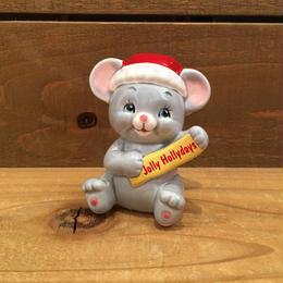 Christmas Mouse Figurine/クリスマスマウス 置物/180208-8