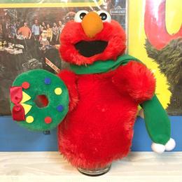 SESAME STREET Elmo Christmas Hand Puppet/セサミストリート エルモ クリスマス ハンドパペット/171029-7