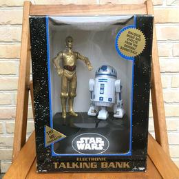 STARWARS C-3PO & R2-D2 Talking Bank/スターウォーズ C-3PO & R2-D2トーキング 貯金箱/170906-1