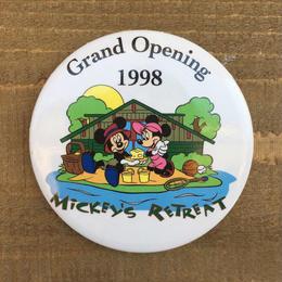 Disney Mickey's Retreat Button/ディズニー ミッキーズ リトリート 缶バッジ/170311-13