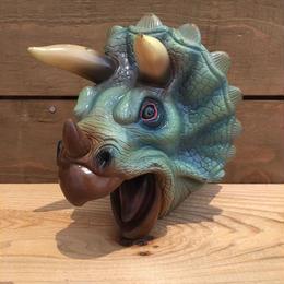 DINOSAUR Triceratops Rubber Hand Puppet/恐竜 トリケラトプス ラバーハンドパペット/18711-2