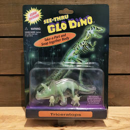 SEE-THRU GLO DINO Triceratops Figure/シースルー・グローダイノ トリケラトプス フィギュア/180610-3