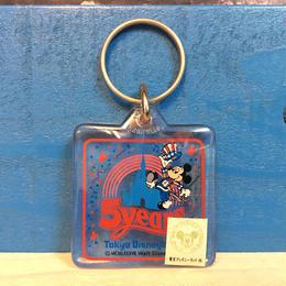 Disney TDL 5years Anniversary Keychain/ディズニー 東京ディズニーランド 5周年記念 キーホルダー/171013-14