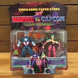 MARVEL VS CAPCOM Cap Vs Morrigan Figure/マーベルVSカプコン キャプテンアメリカ VS モリガン フィギュア/180702-2
