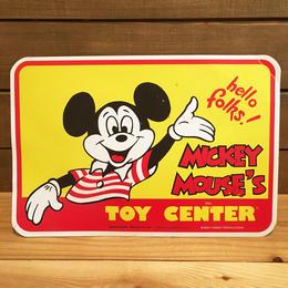 Disney Mickey Mouse's Toy Center Store Sign/ディズニー ミッキー・マウス トイセンター ストアサイン/180319-6