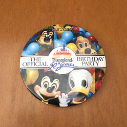 Disney Disneyland 30th Button/ディズニー ディズニーランド30周年記念 缶バッジ/170813-6