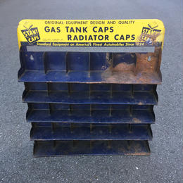Vintage Gas Tank Caps Metal Rack/ヴィンテージ ガスタンクキャップ メタルラック/180110-3