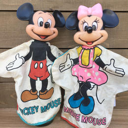 Disney Mickey Mouse & Minnie Mouse Hand Puppet/ディズニー ミッキー・マウス&ミニー・マウス ハンドパペット/170309-1