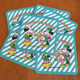 Disney Mickey&Friends Coaster/ディズニー ミッキー&フレンズ コースター(バラ売り)/171125-9