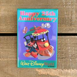 Disney WDW 25th Happy Anniversary Button/ディズニー ウォルトディズニーワールド 25周年 缶バッジ/170311-10