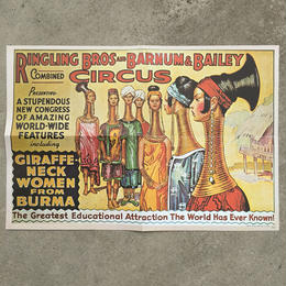 Ringling Bros. and Barnum & Bailey Circus Poster/バーナムのサーカス ポスター/180720-9