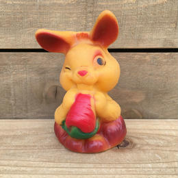 Rabbit Squeaky Rubber Doll/ウサギ スクアーキ―ラバードール/170619-2
