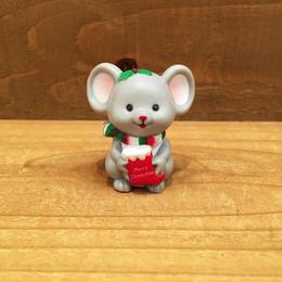 Christmas Mouse Figurine/クリスマスマウス 置物/180208-7