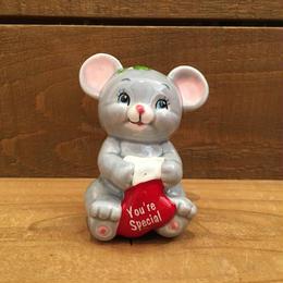 Christmas Mouse Figurine/クリスマスマウス 置物/180208-9