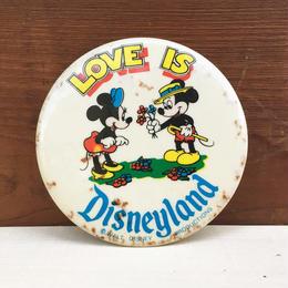 Disney Love Is Disneyland Button/ディズニー ラブ・イズ・ディズニーランド 缶バッジ/171215-6