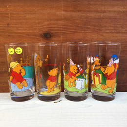 Winnie the Pooh Party Glass 4pcs Set/くまのプーさん パーティーグラス 4個セット/171228-2