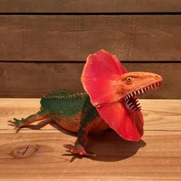 DINOSAUR Chlamydosaurus Rubber Toy/恐竜 エリマキトカゲ ラバートイ/18706-7