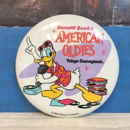 Disney TDL American Oldies Button/ディズニー 東京ディズニーランド アメリカンオールディーズ 缶バッジ/171013-5