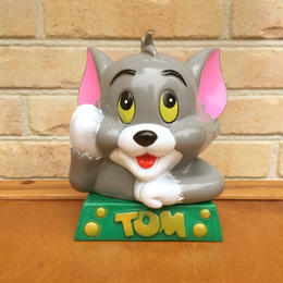 TOM & JERRY Tom Plastic Bank/トムとジェリー トム ソフビ 貯金箱/170901-2