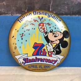 Disney TDL 7th Anniversary Button/ディズニー 東京ディズニーランド 7周年記念 缶バッジ/171013-12