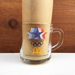 McDonald's L.A Olympic Glass Mug/マクドナルド ロサンゼルスオリンピック グラスマグ/180112-11