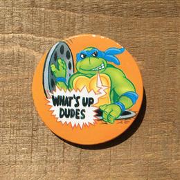 TURTLES Leo Button /タートルズ レオナルド 缶バッジ/170603-6