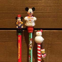 Disney Christmas Figure Pencil Set/ディズニー クリスマス フィギュア鉛筆セット/171213-11