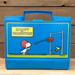 PEANUTS Snoopy Plastic Lunchbox/ピーナッツ スヌーピー プラスチック ランチボックス/170609-2