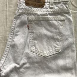 珍品 LEVIS 505 ホワイトジーンズ オレンジタブ